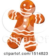 Clipart Of A Christmas Gingerbread Man Royalty Free Vector Illustration by Vector Tradition SM