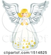 Clipart Of A Christmas Angel Royalty Free Vector Illustration by Vector Tradition SM