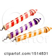 Clipart Of Fireworks Royalty Free Vector Illustration by Vector Tradition SM