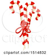 Clipart Of Christmas Candy Canes Royalty Free Vector Illustration by Vector Tradition SM