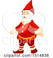 Clipart Of A Christmas Santa Claus Royalty Free Vector Illustration by Vector Tradition SM