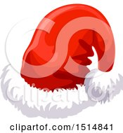 Clipart Of A Christmas Santa Hat Royalty Free Vector Illustration by Vector Tradition SM