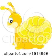 Clipart Of A Cute Snail Royalty Free Vector Illustration by Alex Bannykh