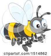 Clipart Of A Bee Royalty Free Vector Illustration