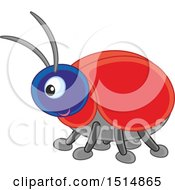 Clipart Of A Cute Bug Royalty Free Vector Illustration