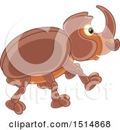 Clipart Of A Cute Beetle Royalty Free Vector Illustration by Alex Bannykh