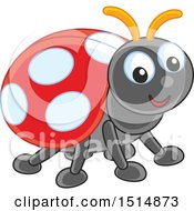 Clipart Of A Cute Ladybug Royalty Free Vector Illustration by Alex Bannykh