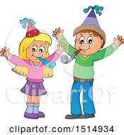Boy And Girl Celebrating At A Party