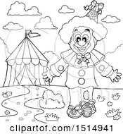 Black And White Circus Clown