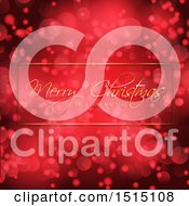 Clipart Of A Merry Christmas And A Happy New Year Greeting Over Red Flares Royalty Free Vector Illustration