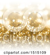 Clipart Of A Background Of Flares And Gold Glitter Royalty Free Illustration