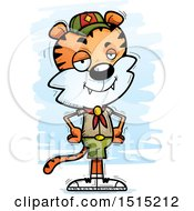 Clipart Of A Confident Male Tiger Scout Royalty Free Vector Illustration