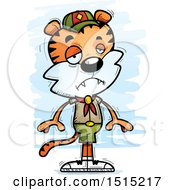 Clipart Of A Sad Male Tiger Scout Royalty Free Vector Illustration