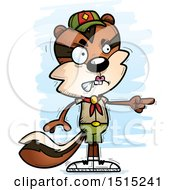 Clipart Of A Mad Pointing Female Chipmunk Scout Royalty Free Vector Illustration by Cory Thoman