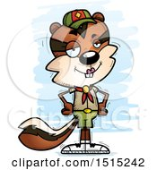 Clipart Of A Confident Female Chipmunk Scout Royalty Free Vector Illustration by Cory Thoman