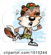 Clipart Of A Tired Running Female Chipmunk Scout Royalty Free Vector Illustration by Cory Thoman