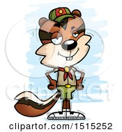 Clipart Of A Confident Male Chipmunk Scout Royalty Free Vector Illustration by Cory Thoman