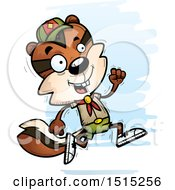 Clipart Of A Running Male Chipmunk Scout Royalty Free Vector Illustration by Cory Thoman