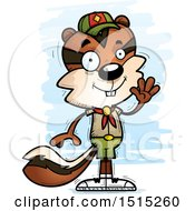 Clipart Of A Waving Male Chipmunk Scout Royalty Free Vector Illustration by Cory Thoman