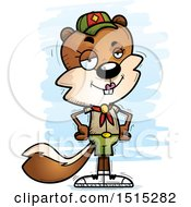 Clipart Of A Confident Female Squirrel Scout Royalty Free Vector Illustration by Cory Thoman