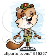 Clipart Of A Sad Female Squirrel Scout Royalty Free Vector Illustration by Cory Thoman