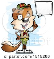 Clipart Of A Talking Female Squirrel Scout Royalty Free Vector Illustration by Cory Thoman