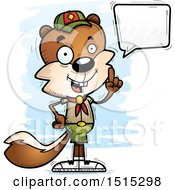Clipart Of A Talking Male Squirrel Scout Royalty Free Vector Illustration by Cory Thoman