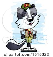 Clipart Of A Confident Female Skunk Scout Royalty Free Vector Illustration