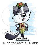 Confident Female Skunk Scout