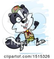 Clipart Of A Running Female Skunk Scout Royalty Free Vector Illustration by Cory Thoman