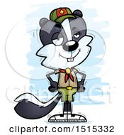 Clipart Of A Confident Male Skunk Scout Royalty Free Vector Illustration