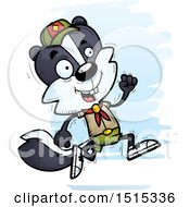 Clipart Of A Running Male Skunk Scout Royalty Free Vector Illustration by Cory Thoman