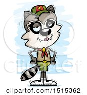 Clipart Of A Confident Female Raccoon Scout Royalty Free Vector Illustration by Cory Thoman