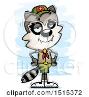 Clipart Of A Confident Male Raccoon Scout Royalty Free Vector Illustration by Cory Thoman