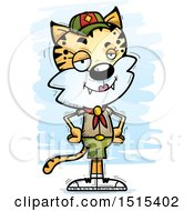 Clipart Of A Confident Female Bobcat Scout Royalty Free Vector Illustration by Cory Thoman