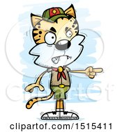 Clipart Of A Mad Pointing Male Bobcat Scout Royalty Free Vector Illustration