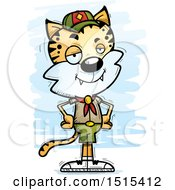 Clipart Of A Confident Male Bobcat Scout Royalty Free Vector Illustration by Cory Thoman