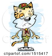 Clipart Of A Sad Male Bobcat Scout Royalty Free Vector Illustration