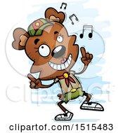 Happy Dancing Female Bear Scout