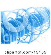 Blue Complex Spiral