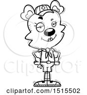December 13th, 2017: Clipart Of A Black And White Confident Female Bear Scout Royalty Free Vector Illustration by Cory Thoman