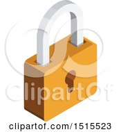 Clipart Of A 3d Security Padlock Icon Royalty Free Vector Illustration by beboy