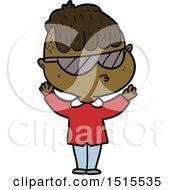 December 15th, 2017: Cartoon Boy Wearing Sunglasses by lineartestpilot