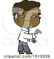 December 15th, 2017: Cartoon Anxious Man Pointing by lineartestpilot