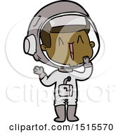 December 15th, 2017: Laughing Cartoon Astronaut by lineartestpilot