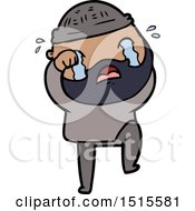 December 15th, 2017: Cartoon Bearded Man Crying And Stamping Foot by lineartestpilot