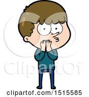 December 15th, 2017: Cartoon Curious Boy by lineartestpilot