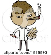 December 15th, 2017: Cartoon Salesman Smoking by lineartestpilot