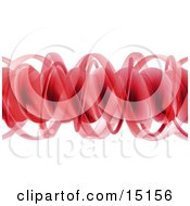 Red Complex Horizontal Spiral Of Dna