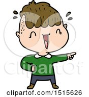 December 15th, 2017: Cartoon Happy Boy Surprised by lineartestpilot